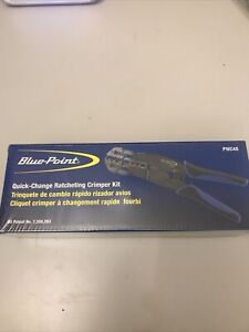 Blue Point Quick Change Ratcheting Crimper Set New Incl Vat