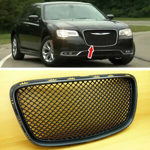 Black Bentley Look Front Grille Grill Cover For Chrysler 300 300c 300s 2015 2019
