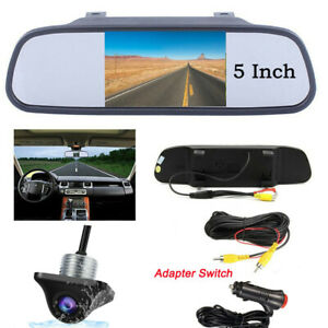 5 Lcd Car Rear View Backup Mirror Monitor reverse Front side View Camera System