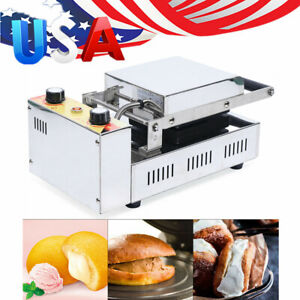 1kw Commercial Panini Press Toaster Electric Sandwich Maker Machine Ribbed Grill