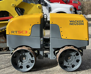 Wacker Rt sc3 Rt Trench Plate Compactor Roller Wide Drum Wireless Remote Bomag