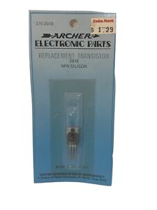 Archer Radioshack Npn Silicon Replacement Transistor Electronic Parts 276 2018