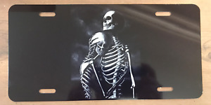 Skeleton Couple Vanity License Plate Car Tag Aluminum