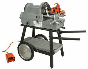 Reconditioned Ridgid 1822 i Auto Chuck Pipe Threading Machine And 150a Cart