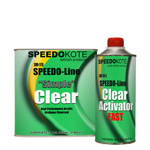 Automotive Acrylic Urethane Clear Coat 3 1 Mix Clearcoat Gallon Kit W Fast Act