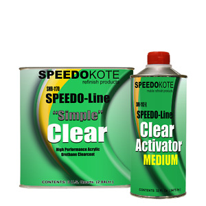 Automotive Acrylic Urethane Clear Coat 3 1 Mix Clearcoat Gallon Kit W med Act