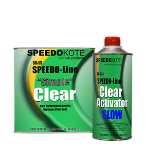 Automotive Acrylic Urethane Clear Coat 31 Mix Clearcoat Gallon Kit Withslow Act