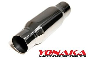 Yonaka High Flow Straight Through Universal 2 25 Resonator Stainless Steel 12