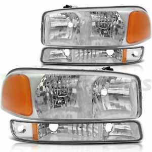 For 1999 2006 Gmc Sierra 1500 Replace Headlight Assembly Driver Passenger Side