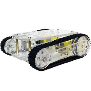 20x smart Robot Tank Car Chassis Kits Transparent Cler Chassis Tracked Platform