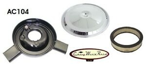 Chevy Air Cleaner 70 72 Camaro Z28 Dual Snorkel With Chrome Lid