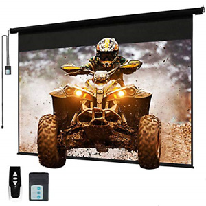 120 Motorized Projector Screen Electric Diagonal Automatic Projection 4 3 Hd
