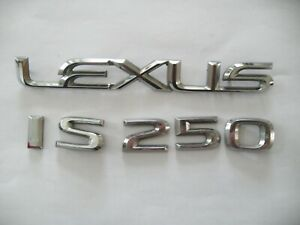 Lexus Is250 Rear Tailgate Emblems Name Plate