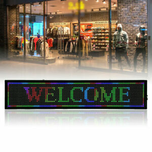 40x 8inch Seven Color Led Sign Programmable Scrolling Message Display Board Hot