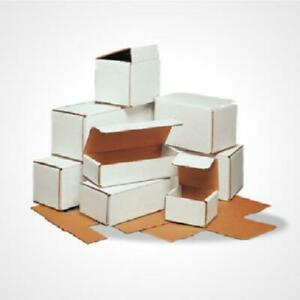 White Corrugated Mailers Shipping Packing Boxes Mailers Gift 50 12x4x4 Fold New