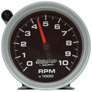 Autometer Tachometer Gauge 10k Rpm 3 3 4in Pedestal W external Shift light