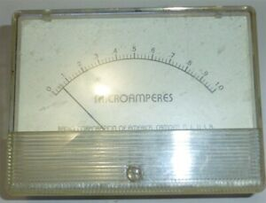 Rca Microamperes Meter Maybe From Wv 84 Used