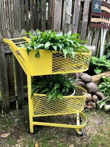 Vintage 1930 s 40 s Double Basket Grocery Store Shopping Cart