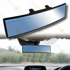 Universal Convex 270mm Wide Broadway Blue Tint Interior Clip On Rear View Mirror