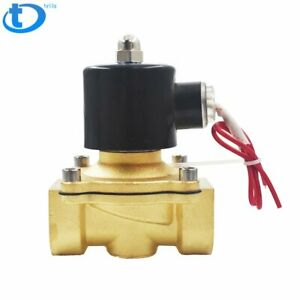 New 1 Npt 110v 120v Volt Ac Electric Solenoid Valve Brass Water Air Gas Nc