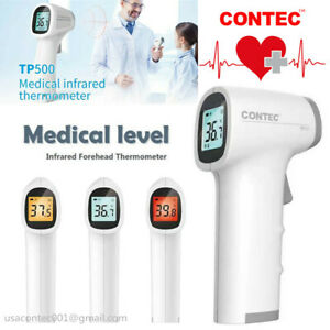 Contec Lcd Digital Non contact Ir Infrared Thermometer Forehead Body Temperature