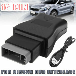 Car Diagnostic Obd Fault Code Cable Tool 14 Pin For Nissan Consult Interface Usb