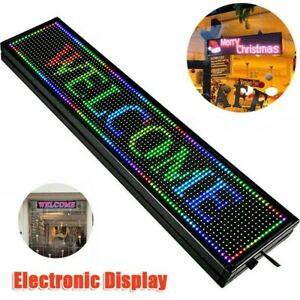Rgb App Wifi Led Scroll Sign Programmable Scrolling Message Display Board 40 8