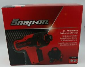 Snap on Cts725a 14 4 Volt 1 4 Hex Microlithium Cordless Screwdriver Kit red