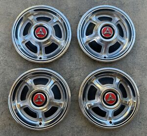 Nice Early Take Offs 68 69 Dodge Charger 14 Hub Caps Hubcaps R t Mopar Hemi