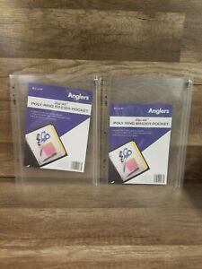2 Angler s Zip all Ring Binder Pocket 8 1 2 X 11 Clear 025728000675 New