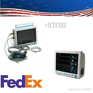 Cms8000 Vital Signs Patient Monitor With Etco2 Capnograph 6 parameters Usa Stock