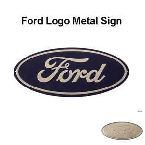 Ford Emblem Badge 20 X 9 Metal Bar Logo Home Decor U s a Garage Man Cave