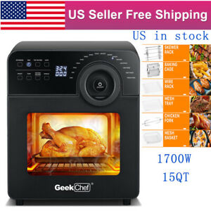 1700w Convection Air Fryer 15qt Touch Screen Digital Countertop Oven Toaster