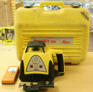 Leica Rugby 100 Rotary Laser Level W Case Pre owned Free Shipping