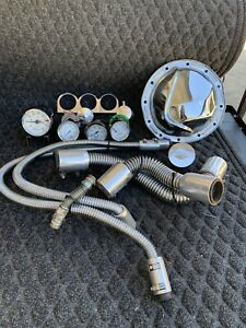 Auto Gauge By Auto Meter Chrome Gauges Radiator Heater Hose Chrome 12 Bolt