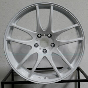 4 New 18 Vordoven Forme 9 Wheels 18x10 5 5x114 3 15 White Rims 73 1