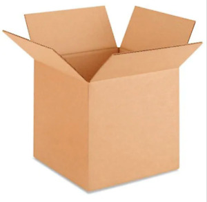 10x10x10 Cardboard Boxes 25 Count Mailing Packing Shipping Box Corrugated