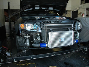 Cx Fmic 29x11x3 Intercooler Kit For 05 06 07 08 Audi A4 B7 2 0t Blue Hoses