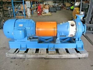 Goulds 3175 4 X 6 18 Iron Pump W 125 Hp Motor 2251145j Used
