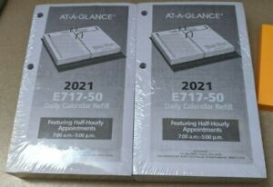 2 At a glance Desk Calendar Refill 2021 Day month 3 5 In X 5 98 In
