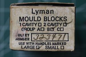 lyman bullet mould #323407 for 8mm Mauser 2 cavity GC New no mould handles $160.00