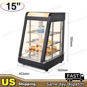 15in Commercial Food Pizza Warmer Cabinet Counter top Heated Display Case