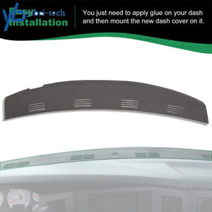 For 2002 2003 2004 05 Dodge Ram 1500 2500 3500 Defrost Dash Cover Vent Cap Black