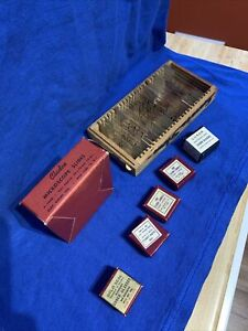 Lot Vintage Microscope Slides Slide Cover Glass Labels Cladco Luxor Gold Seal