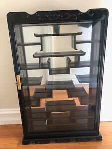 Vintage Chinese Wood Hanging Wall Cabinet