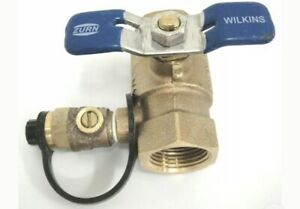 Zurn Wilkins Ball Valve With Test Cock 850t 3 4 400 Psi Non potable Use Only