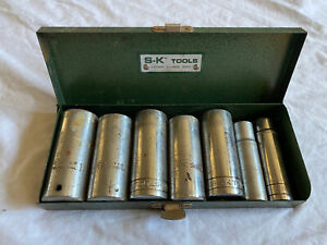 S K Tools Thorsen Proto 1 2 Drive 12 Point Deep Socket Set And S K Case Used