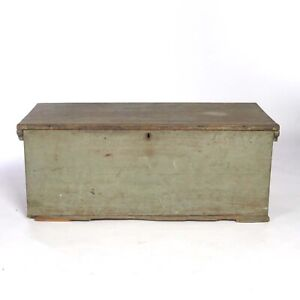Antique Blanket Chest Trunk Box Painted For Restoration 19th C