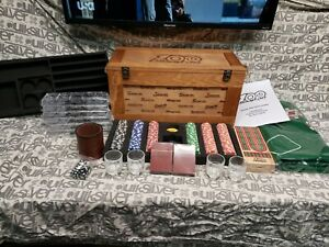 Snap On 100 Anniversary Game Chest Poker Set In Wooden Crate