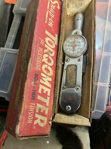 Vintage Snap on Tq 25 Torqometer 3 8 Drive Torque Wrench 300 In lb W box